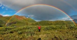 A double-Alaskan rainbow