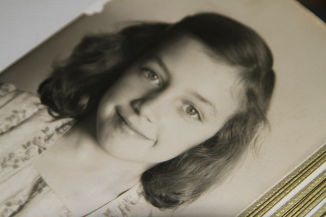 Myrna Armstrong; Grandmother guessed she was about 8 years old in this picture