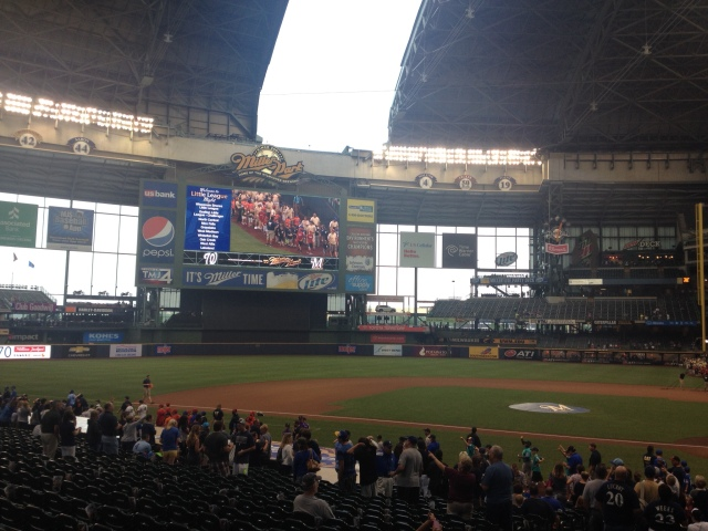 Closing the roof at Miller Park in Milwaukee