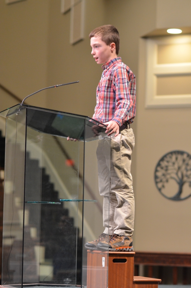 Joshua Bybee's first sermon, Jan. 25, 2015