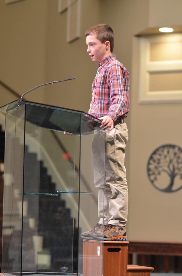 Joshua Bybee's first sermon, Jan. 25, 2015