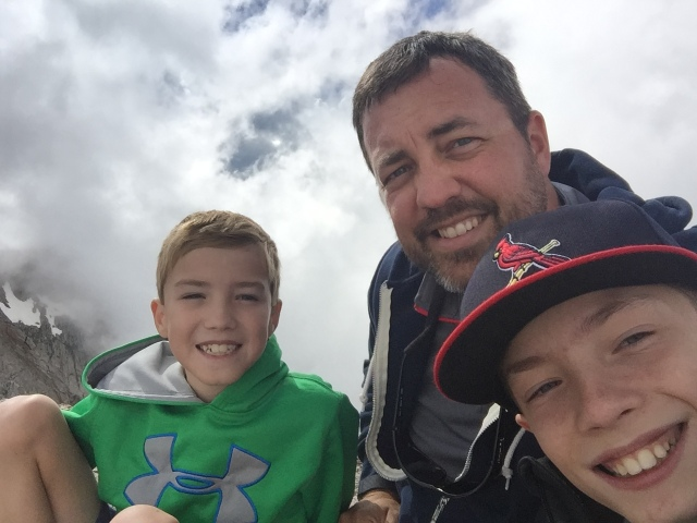 The Bybee boys at Mount Evans